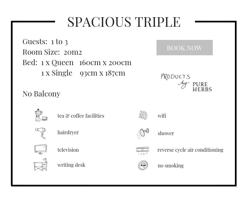 Spacious Triple
